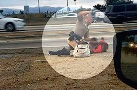 cop beats woman