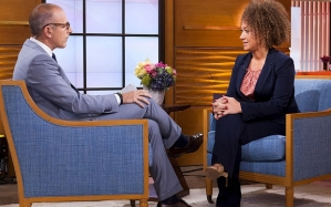 "NBC handout shows Dolezal being interviewed by Lauer on the NBC News ""TODAY"" show in New York"