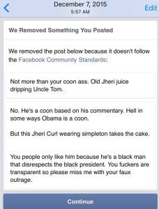 Banned from FB pic